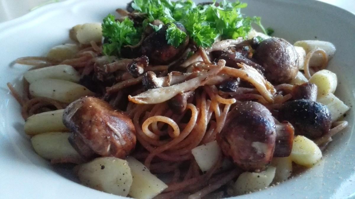 speltspaghetti met asperges