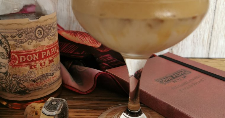 Dalgona coffee met Don Papa rum