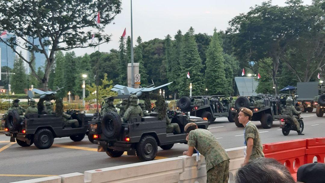 Militaire parade Singapore