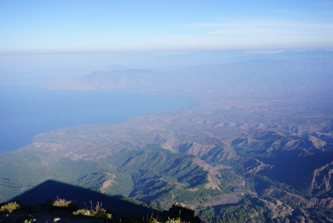 Uitzicht inierie vulkaan