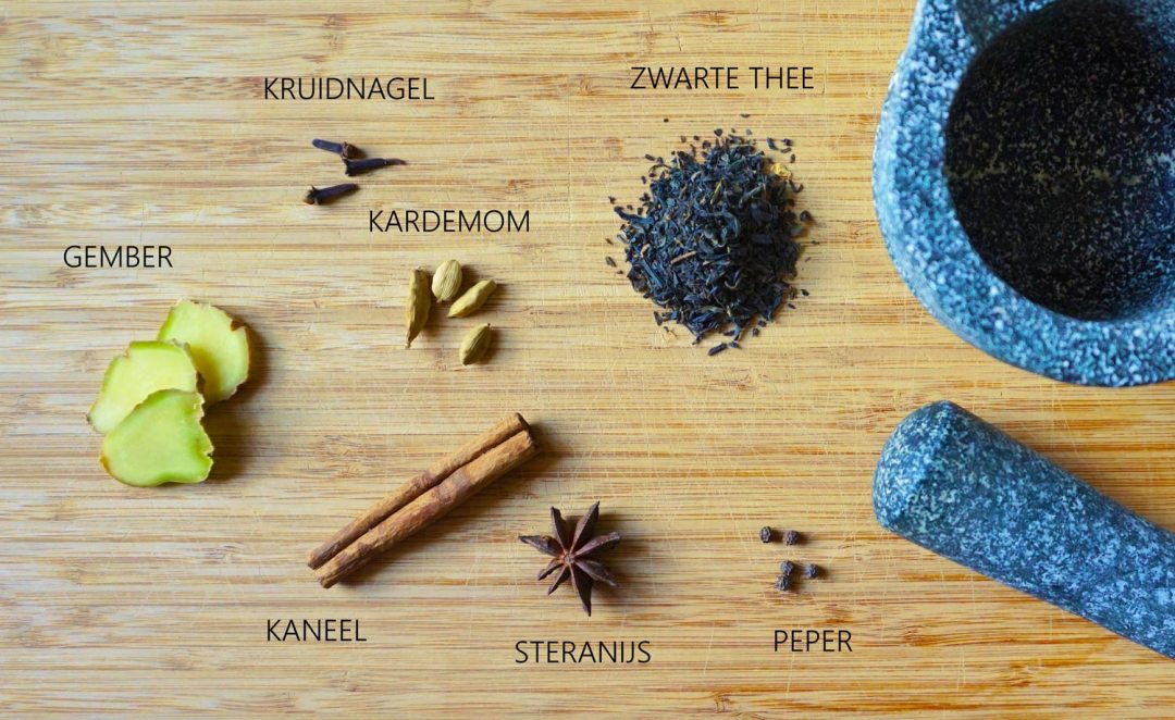 Masala-Chai-ingredienten