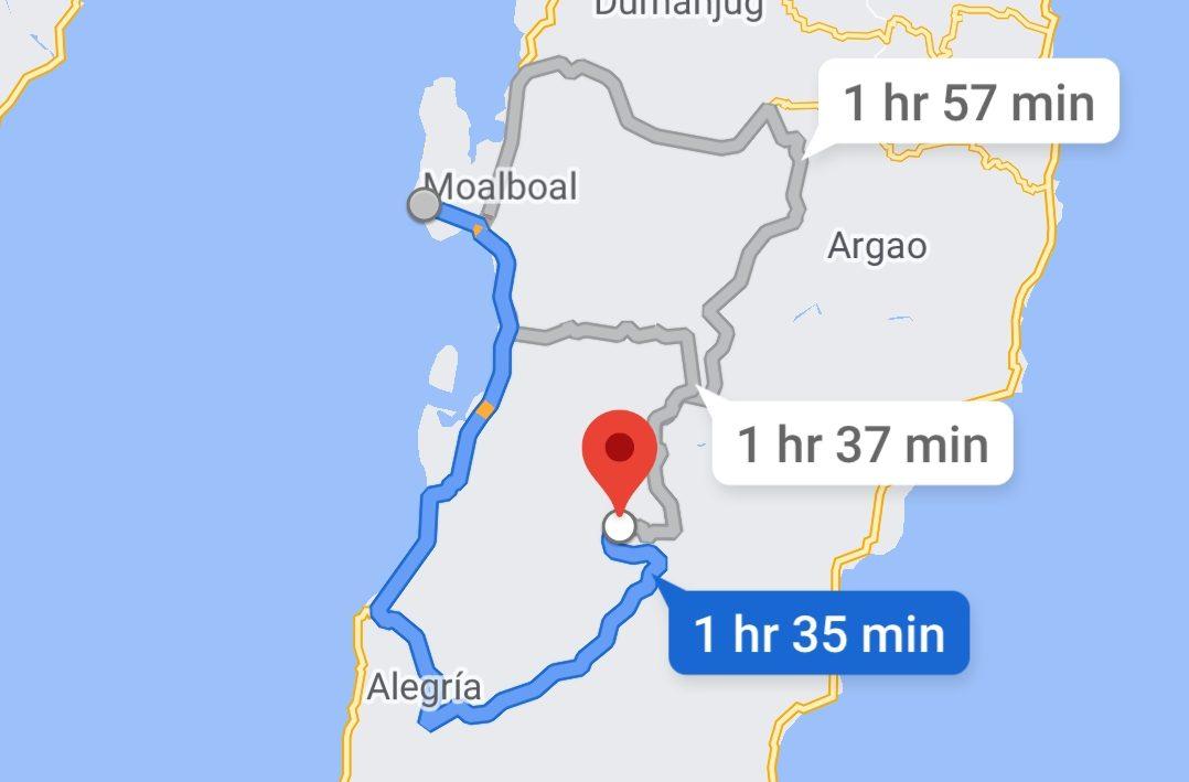 Route Osmena Peak Moalboal