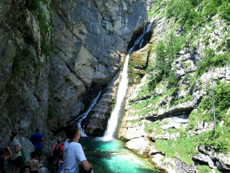Savica waterval bij Bohinj meer in Slovenië, bron Mijn Slovenië