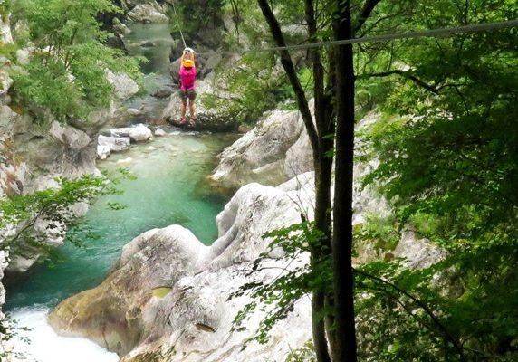 zipline in Slovenie