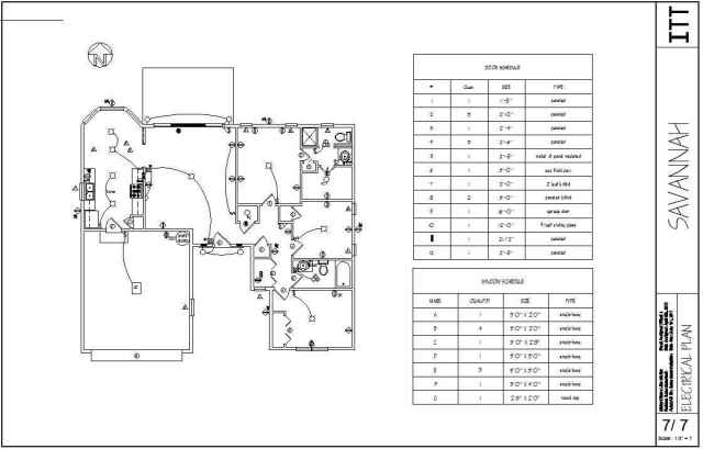 electrical plan in building