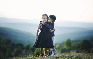 幼いカップル