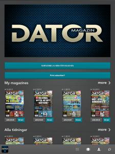 Datormagazin som e-tidning på iPad