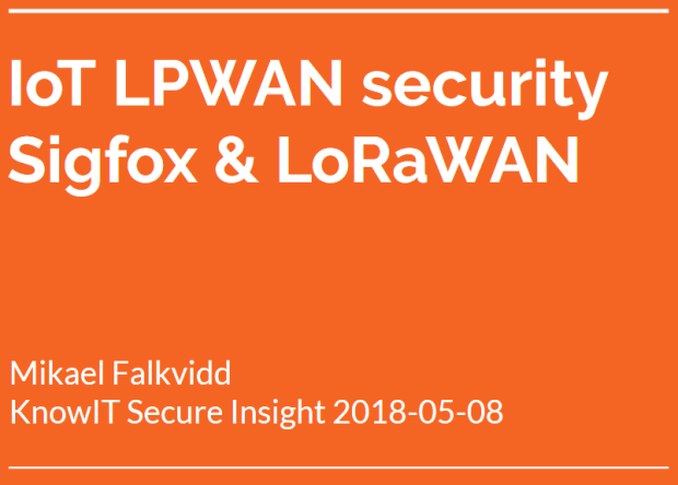 IoT LPWAN security knowit secure insight
