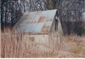 Resterne af huset i Sepstrup krat
