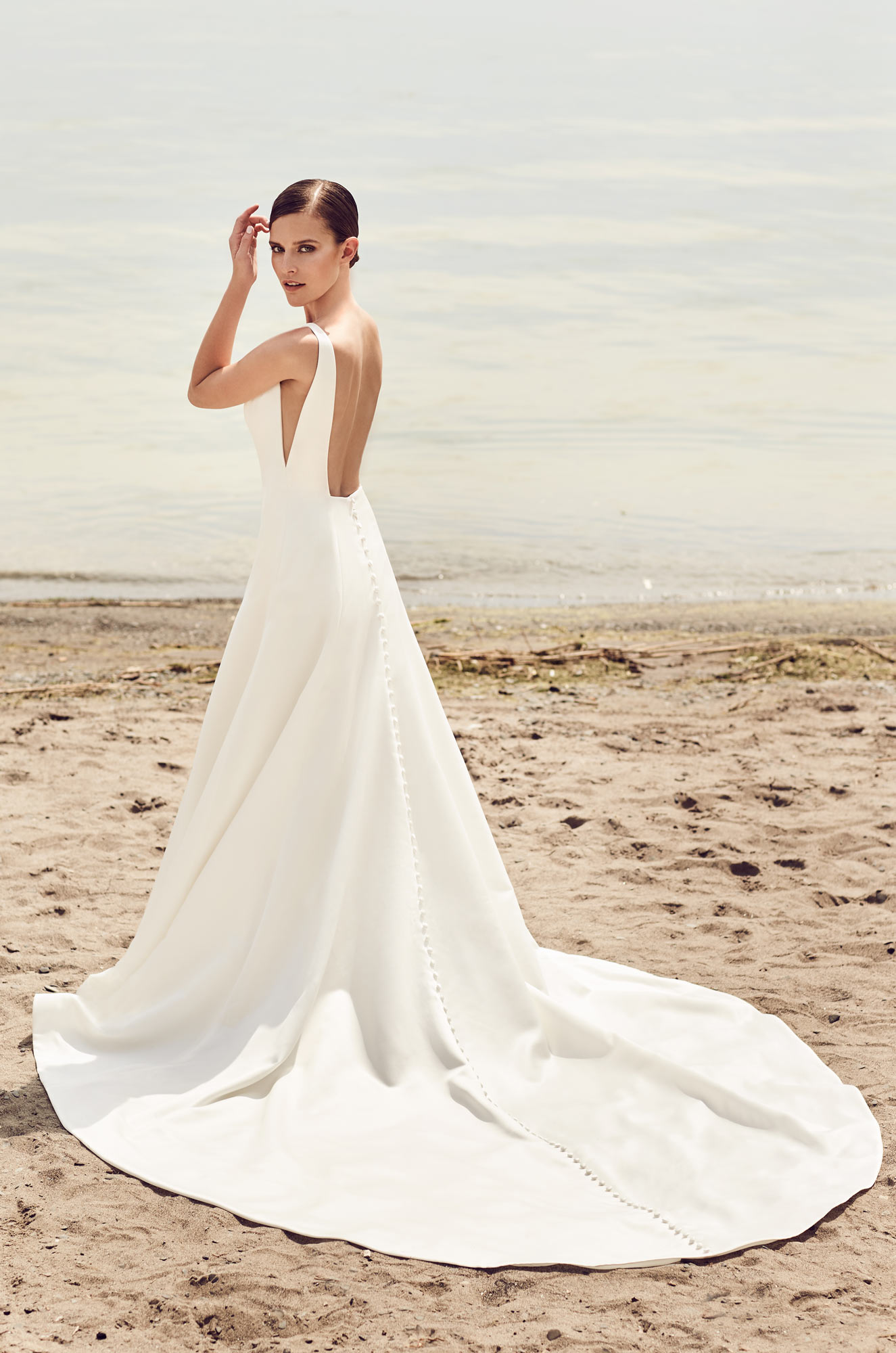 Sleek Modern Wedding Dress  Style #2115  Mikaella Bridal