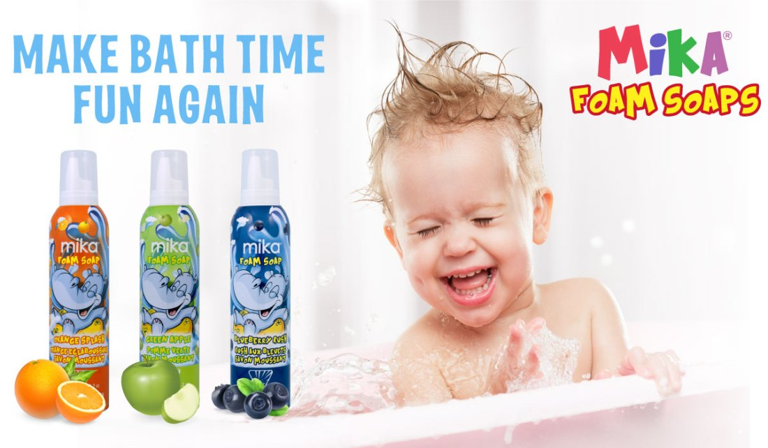 Mika Kids Foam Soaps - Make Bath Time Fun Again!