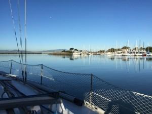 ヨットからの景色