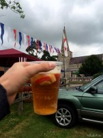 Surviving the rain the English way: with a Pimm's cup.