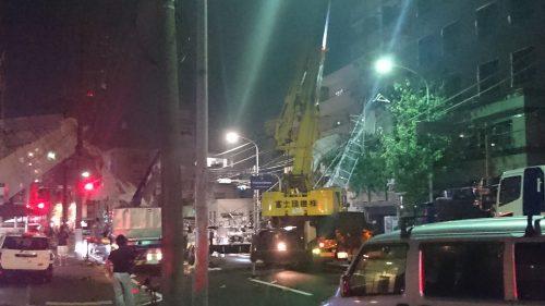 横浜市南区工事現場足場崩壊