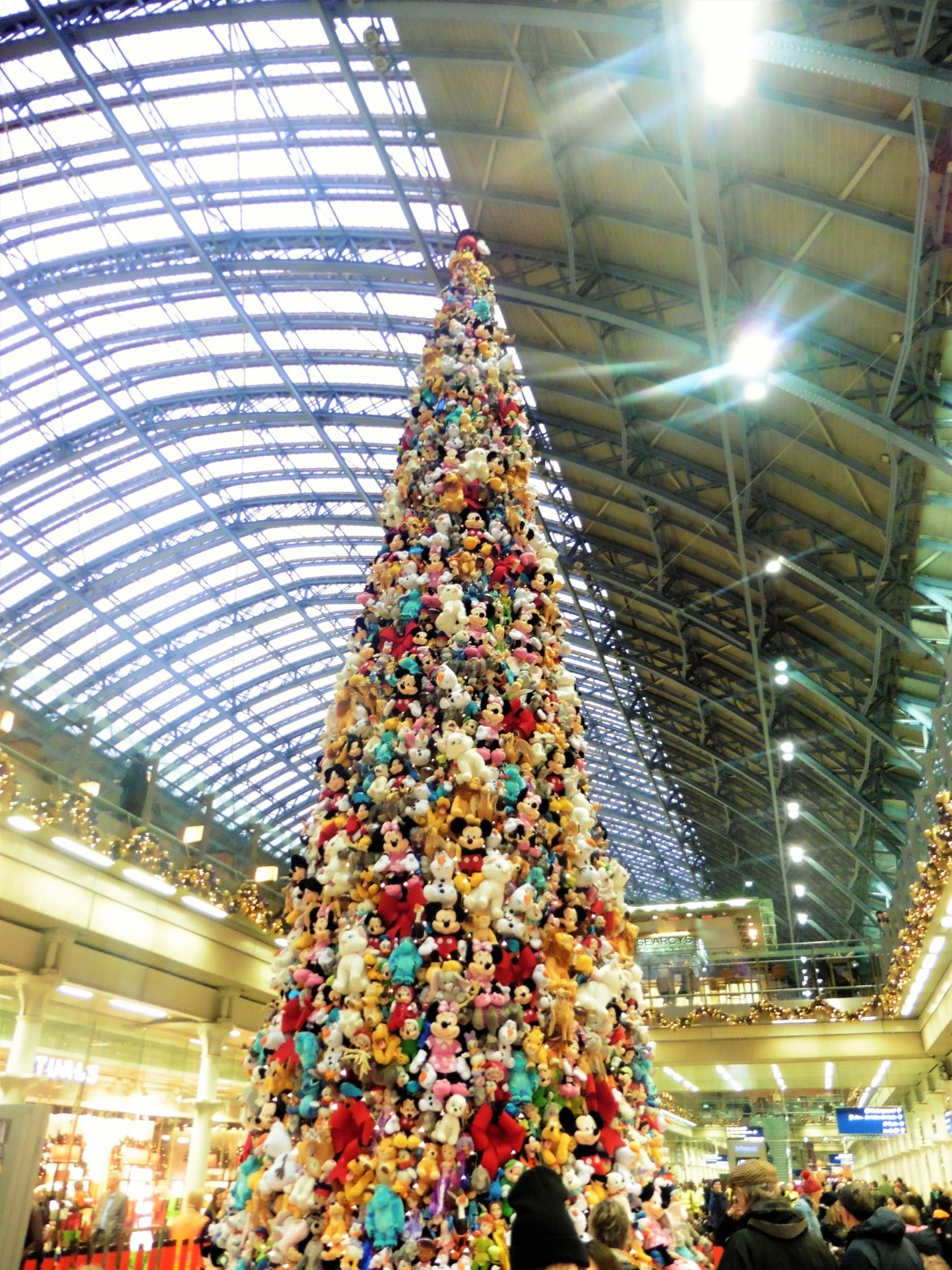 Sapin de Noël, Gare de Londres, St Pancras