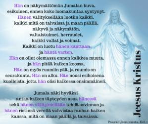 Jeesus Kristus kaikessa ensimmäinen