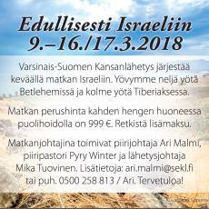 Halpa matka Israeliin