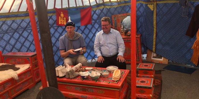 Lähetystyö Mongoliassa - vierailu jurtassa
