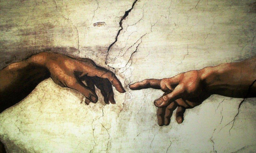 Jumala ja ihminen michelangelo