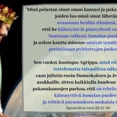 Jeesuksen lähetyskäsky Apostolien teoissa Paavalille
