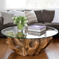 Natura Round Root coffee table - Mikaza Meubles modernes ...