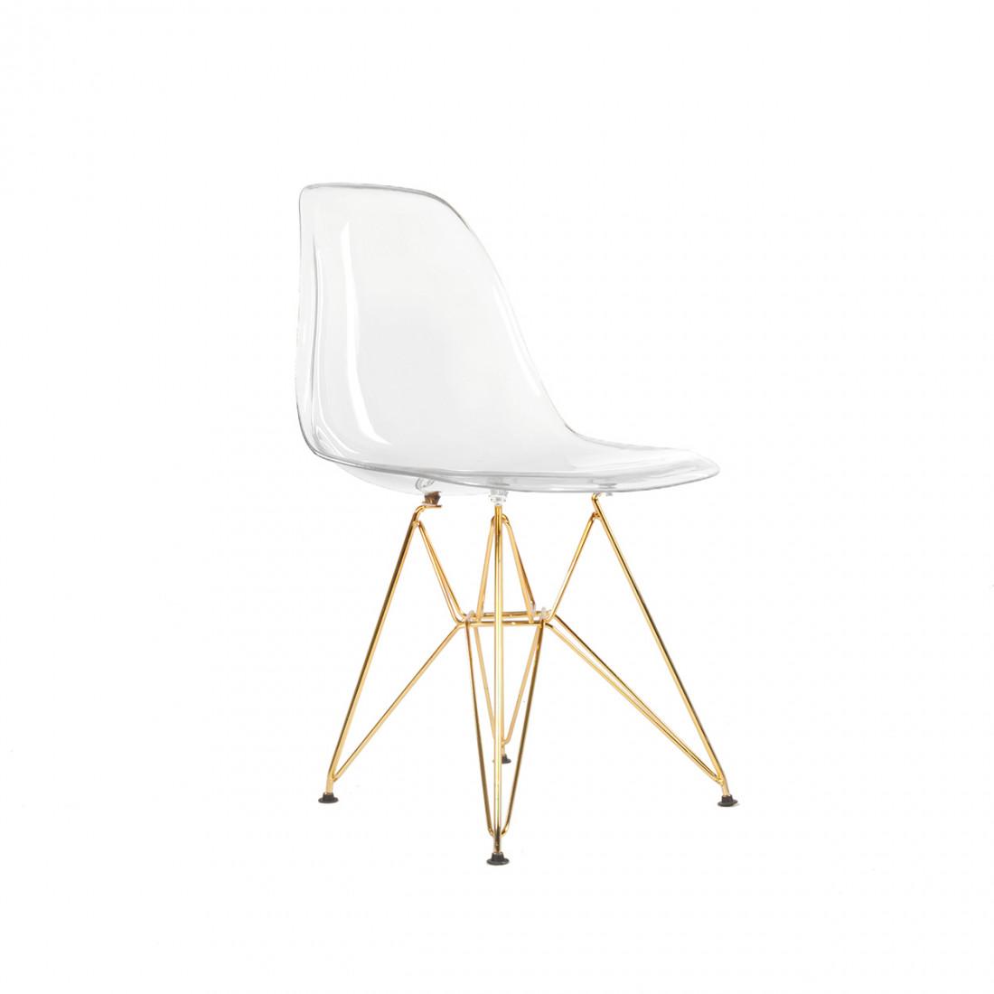 gold metal accent chair bauhaus swivel eiffel - mikaza meubles modernes montreal modern furniture ottawa.