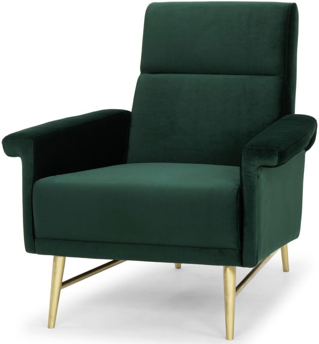 Emerald Green Accent Chair Mathise Occasional Chair Mikaza Meubles Modernes