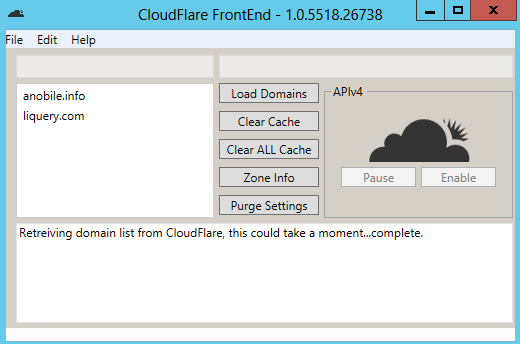 CloudFlare FrontEnd GUI – Manage your domains