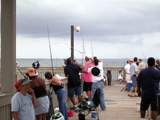 Eric fighting with the big one