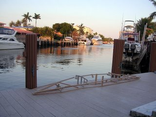 PakYak Frame and some real boats on the Fort Lauderdale Florida Intercoastal.
