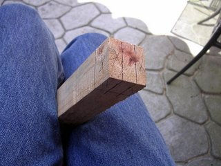 cut marks for making a tenon joint