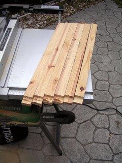 6 cross members tenon cut on a table saw