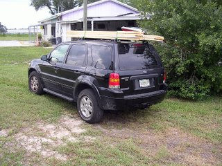 My New Ford Escape hauling wood.