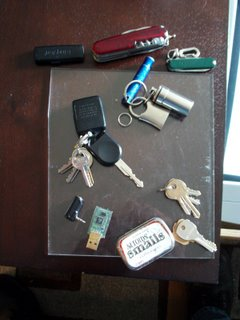 The contents of my pocket