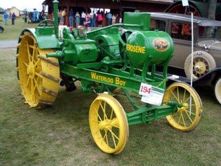 An old Waterloo Boy tractor that runs on kerosene