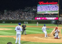 David Ross touches home after hitting the final regular season home run of his career.