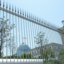 View on the new presidential palace