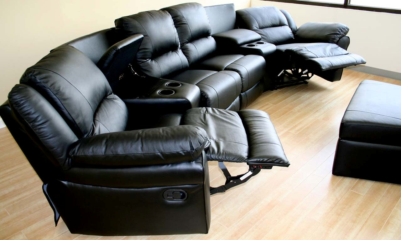 home theater leather sofa set with price sectional genuinue black recliner
