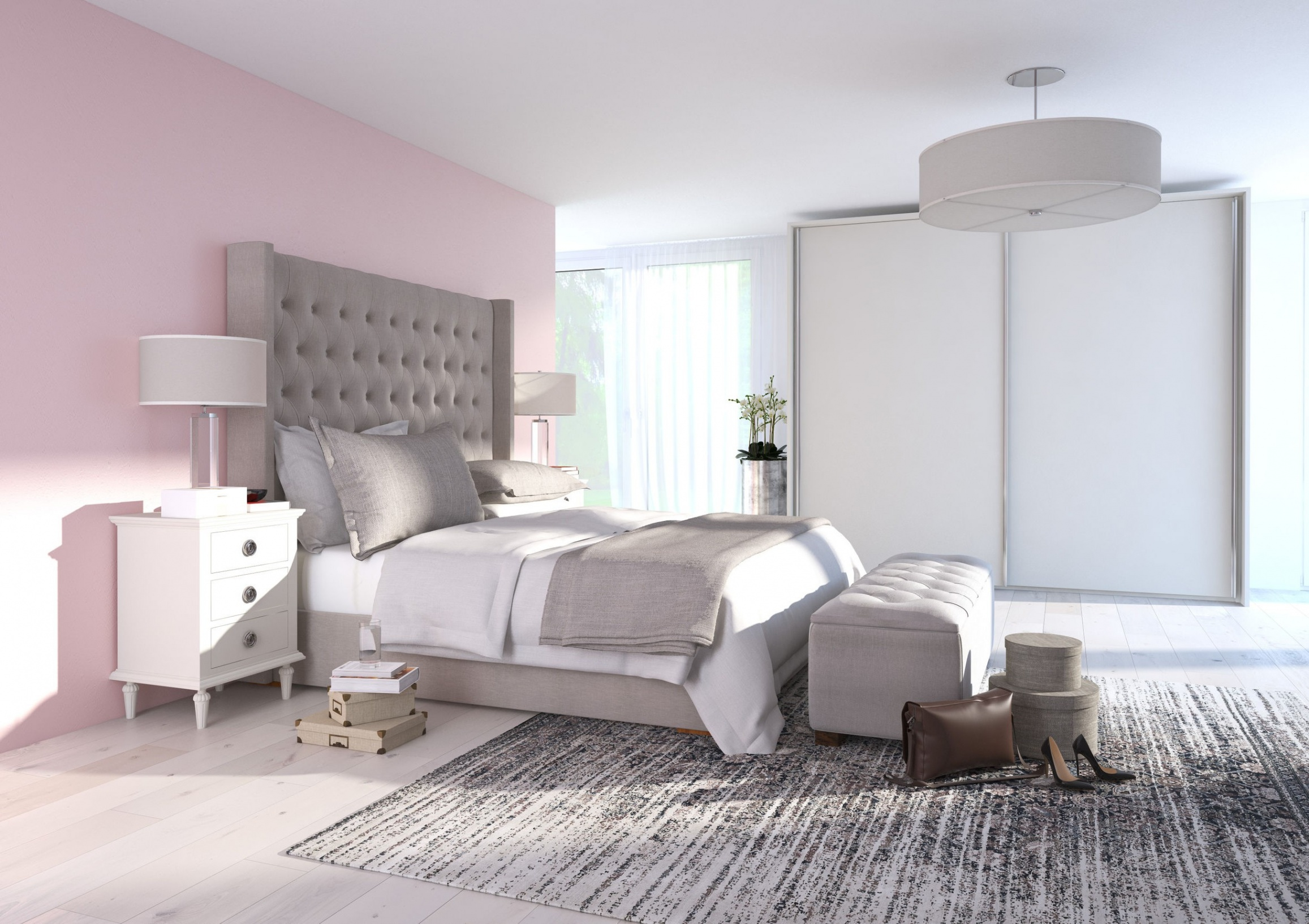 Chambre Cocooning Rose Pale · Chambre ...