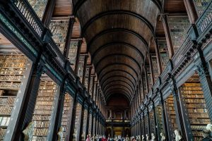 huge library suggesting the topic of Praying God's Will for Your Marriage