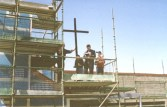 Image of the Blessing the cross - Construction of St Barnabas Charnwood