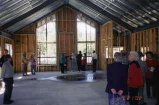 Image of St Barnabas being built inside