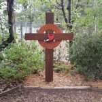 celtic cross in garden