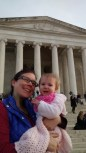 Bonnie at the Jefferson Memorial