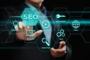 SEO SEM Search Engine Optimization Marketing Ranking Traffic Website Internet Business Technology Concept
