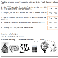 Lesson plan - Schools in Finland