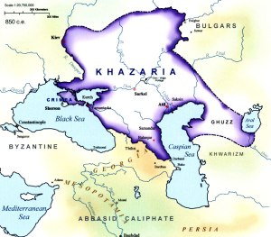 Khazaria in 850 AD, Map Source
