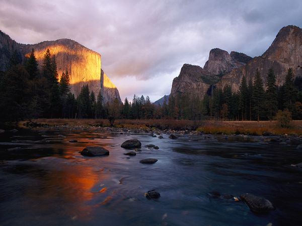 California's Yosemite Valley—with stunners such as El Capitan, at left, and the Merced River—inspired early European visitors to call for its protection.