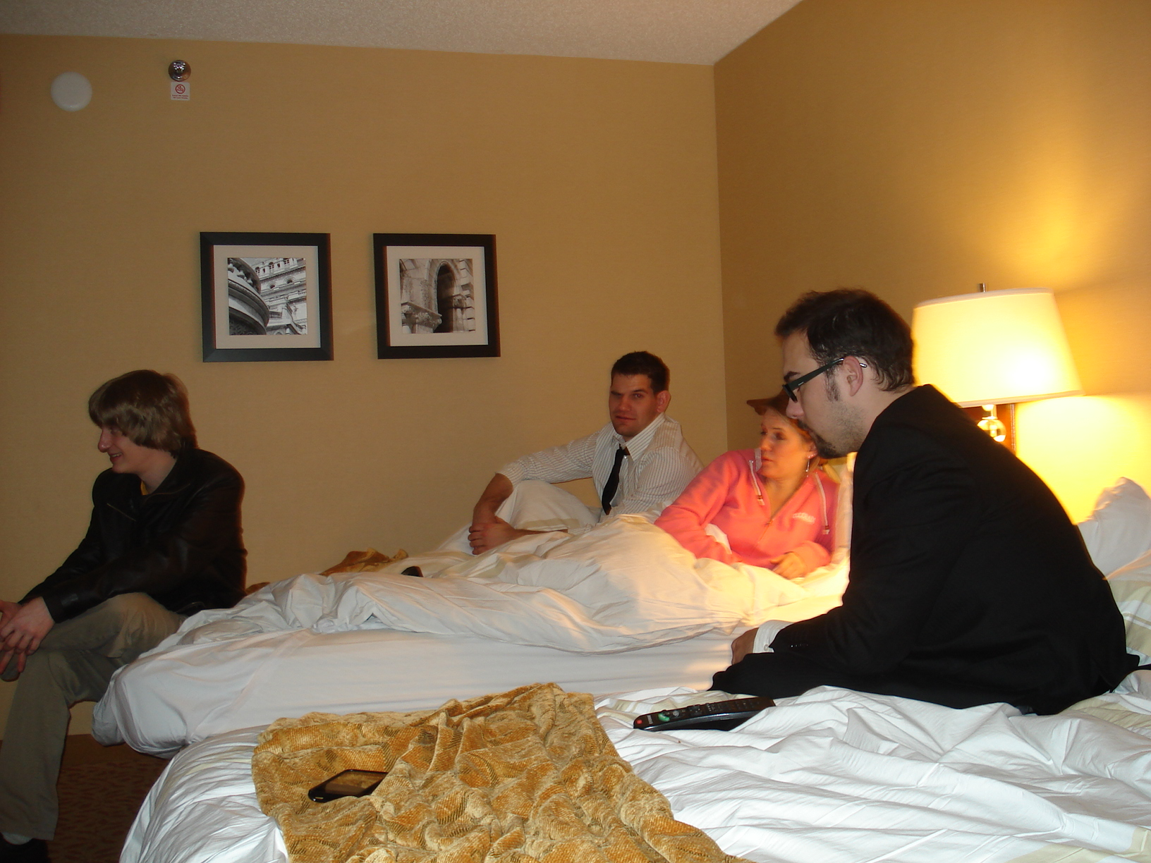 I totally don't remember Jason B being in our room!!!!  I don't even remember seeing him at the Holiday Party!