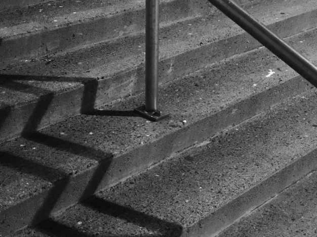 Market Square Stairs Zig Zag Shadows Photograph